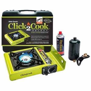 Click2Cook Select Butane or Propane Portable Stove With Hose