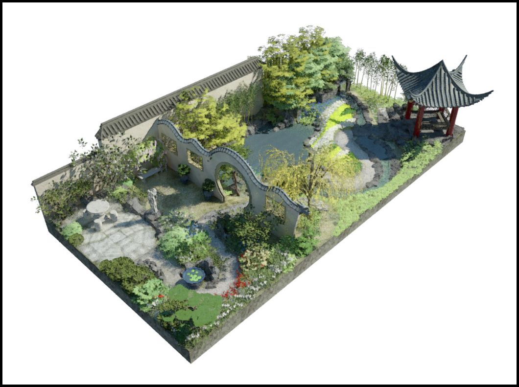 chinese garden plan google search