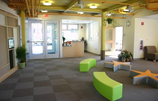 Lobby of Childcare Center | Childcare center, Lobby design ...