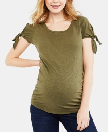 0388b0794049b Motherhood Maternity Cold-Shoulder T-Shirt - Grey Print S en 2019 ...