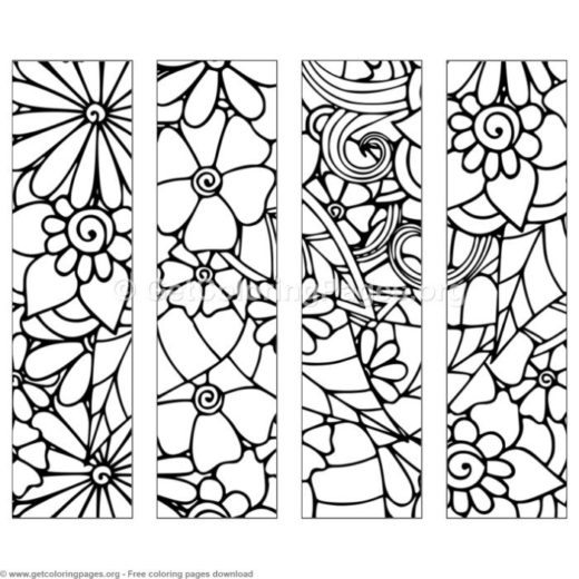 Floral Bookmarks Coloring Page Page 2 Getcoloringpages Org Unicorn Coloring Pages Mandala Coloring Pages Easter Coloring Pages