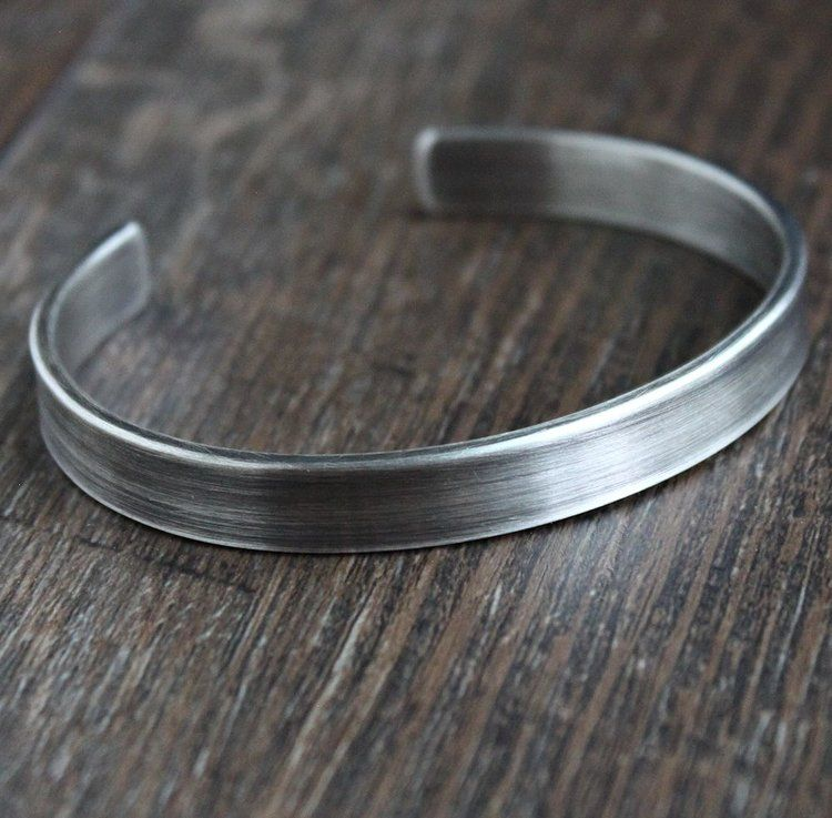 new. hallmarked hammered flat bangle solid Sterling Silver rustic look