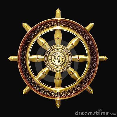 The dharma wheel or dharmachakra in Sanskrit, is one of the oldest ...