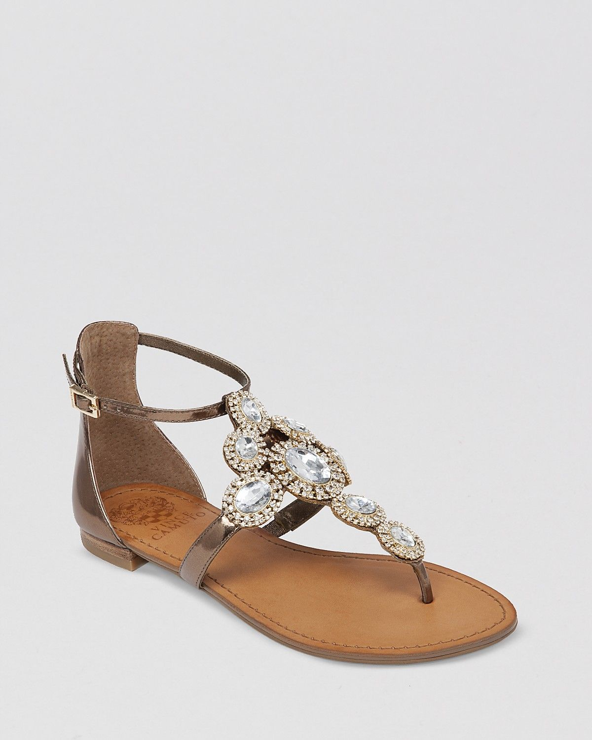1368e1328 VINCE CAMUTO Jeweled Thong Flat Sandals - Manelle | Bloomingdale's ...