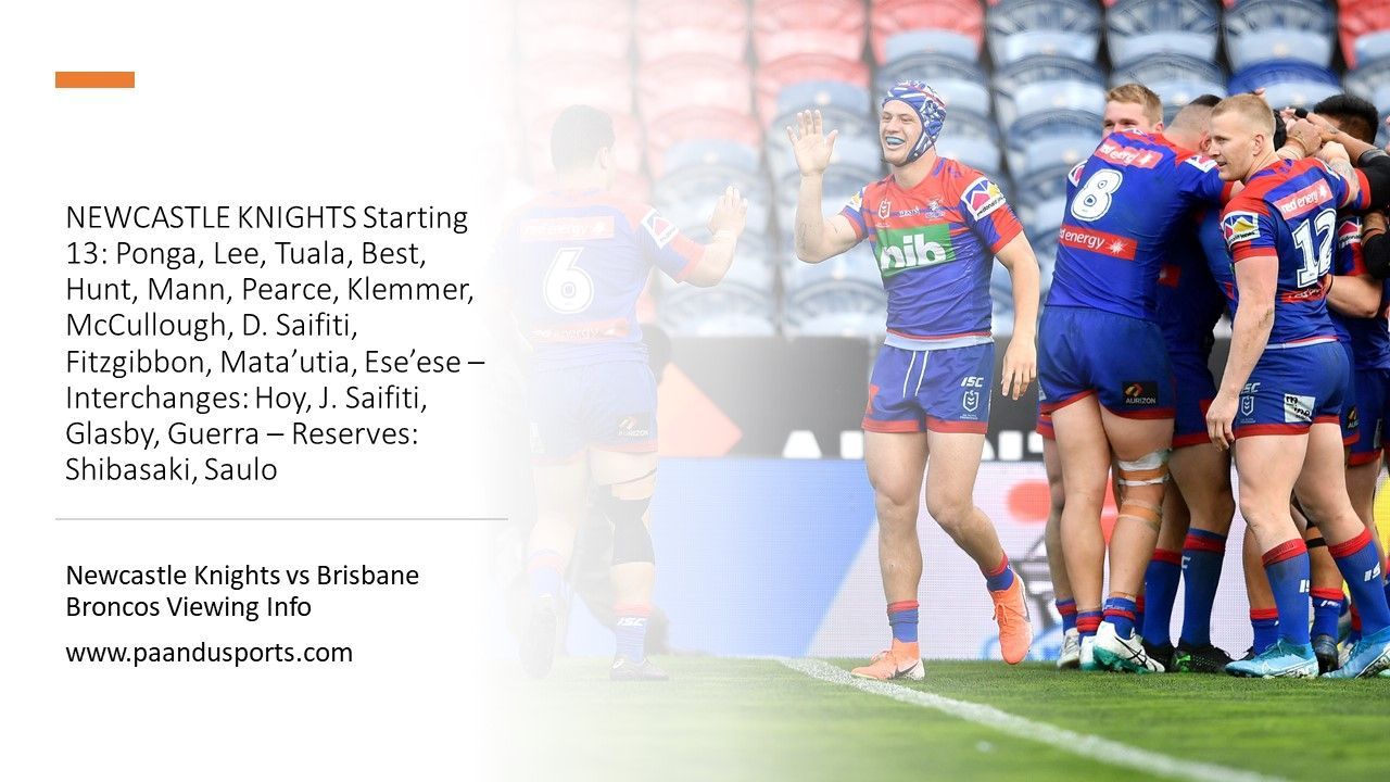 NEWCASTLE KNIGHTS Starting 13 in 2020 Newcastle knights