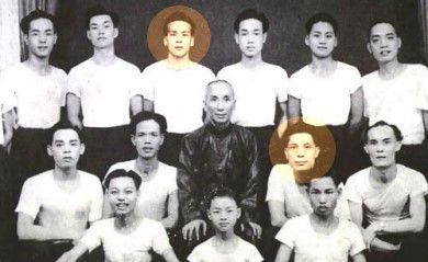 Yip Man's first group of students featuring Leung Sheung and Lok Yiu