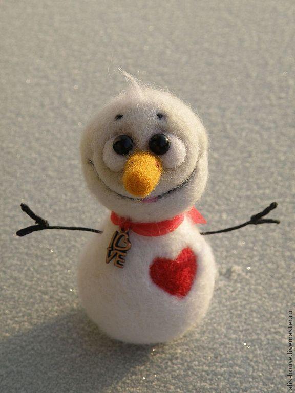 снеговик #dollsneedlefelt