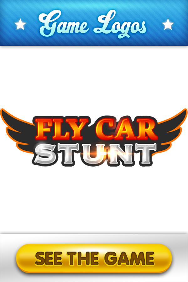 Fly Car Stunt Logo Game logo, Logos, Two player games