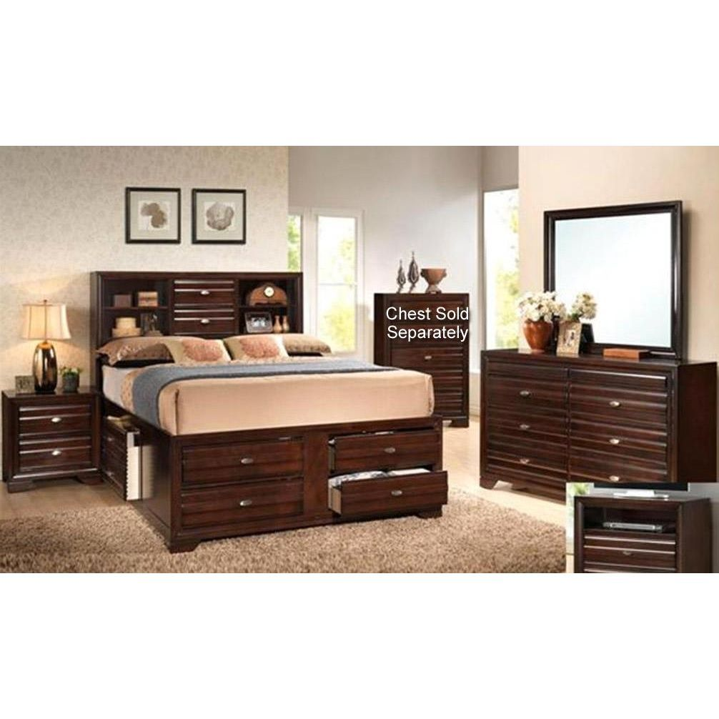 Clearance Stella Merlot 7 Piece King Bedroom Set | House Stuff ...