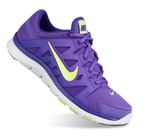 new product 64bef ae0ec Nike Flex Supreme TR Cross-Trainers - Women. Purple, neon running shoes  make a statement while working out!