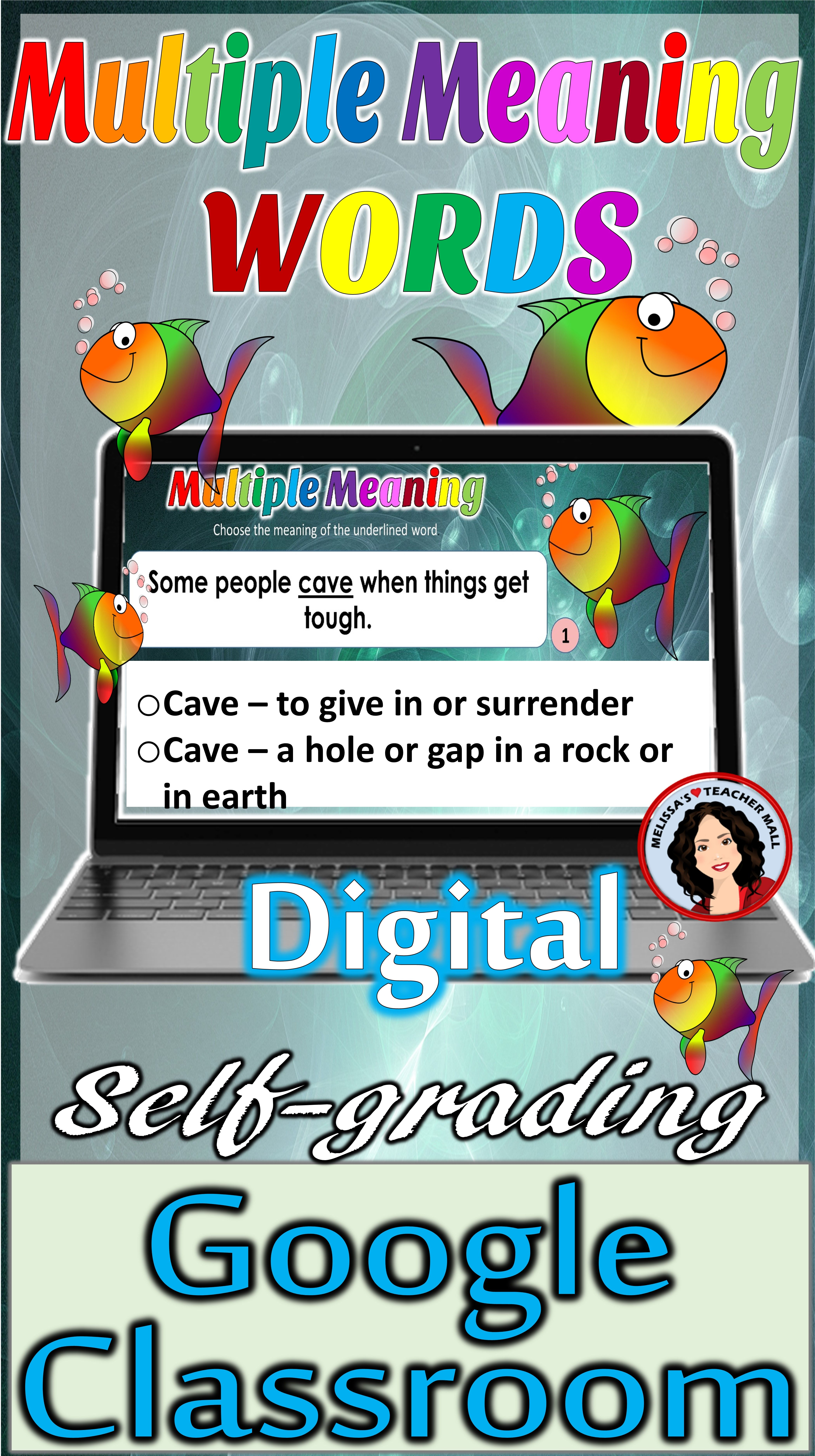 medium resolution of Digital Google Classroom Activity featuring Multiple Meaning Words. Works  perfectly f…   Multiple meaning words