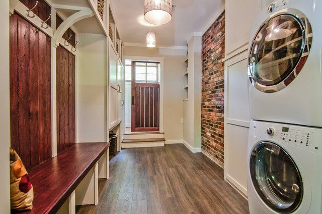 fake brick wall panels laundry room traditional with barn on laundry room wall covering ideas id=54752