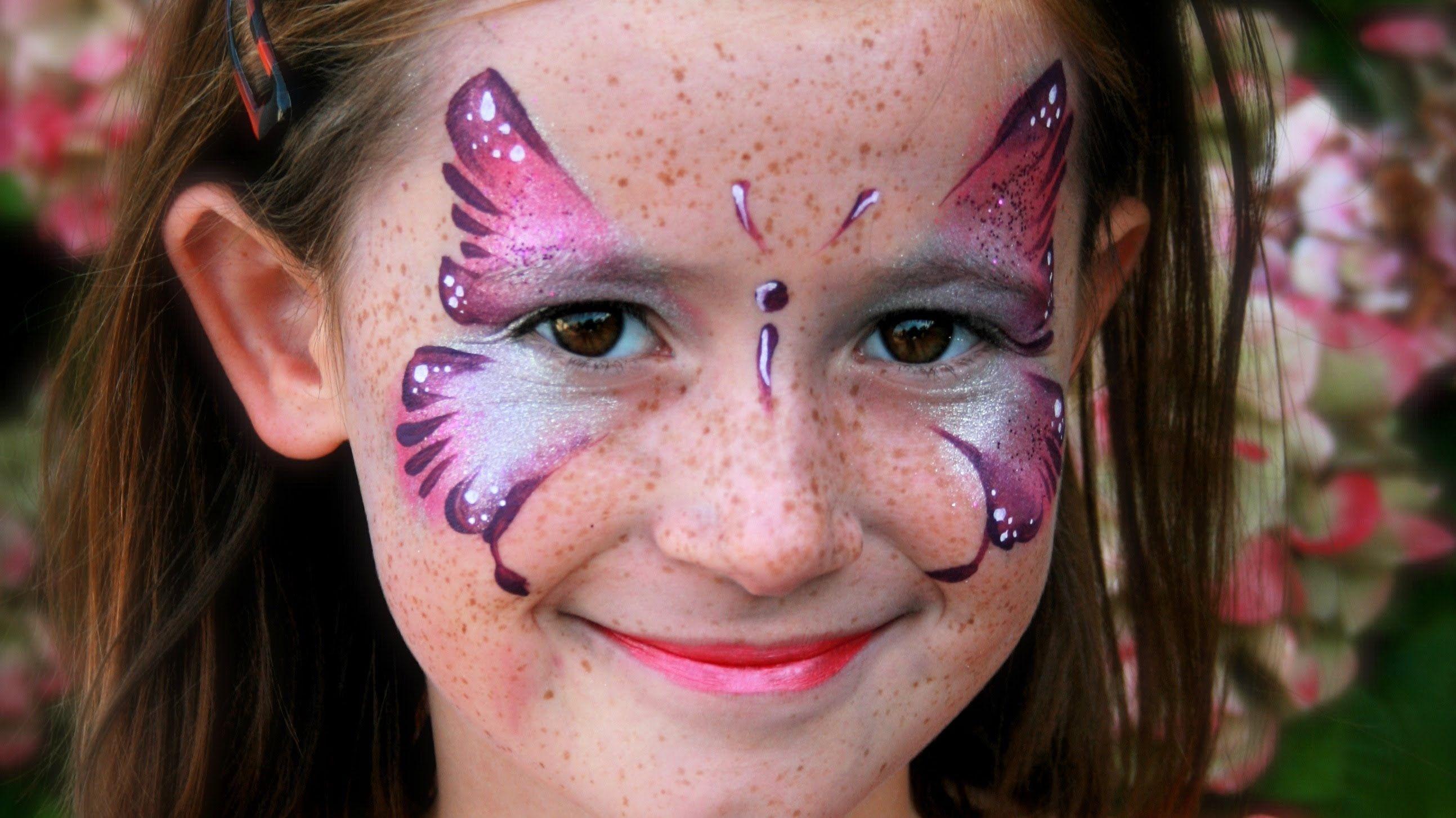 Schmetterling Schminken Rosa Schmetterling Kinderschminken