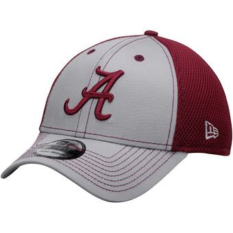Alabama Crimson Tide New Era Team Front Neo 39THIRTY Flex Hat - Gray/Crimson