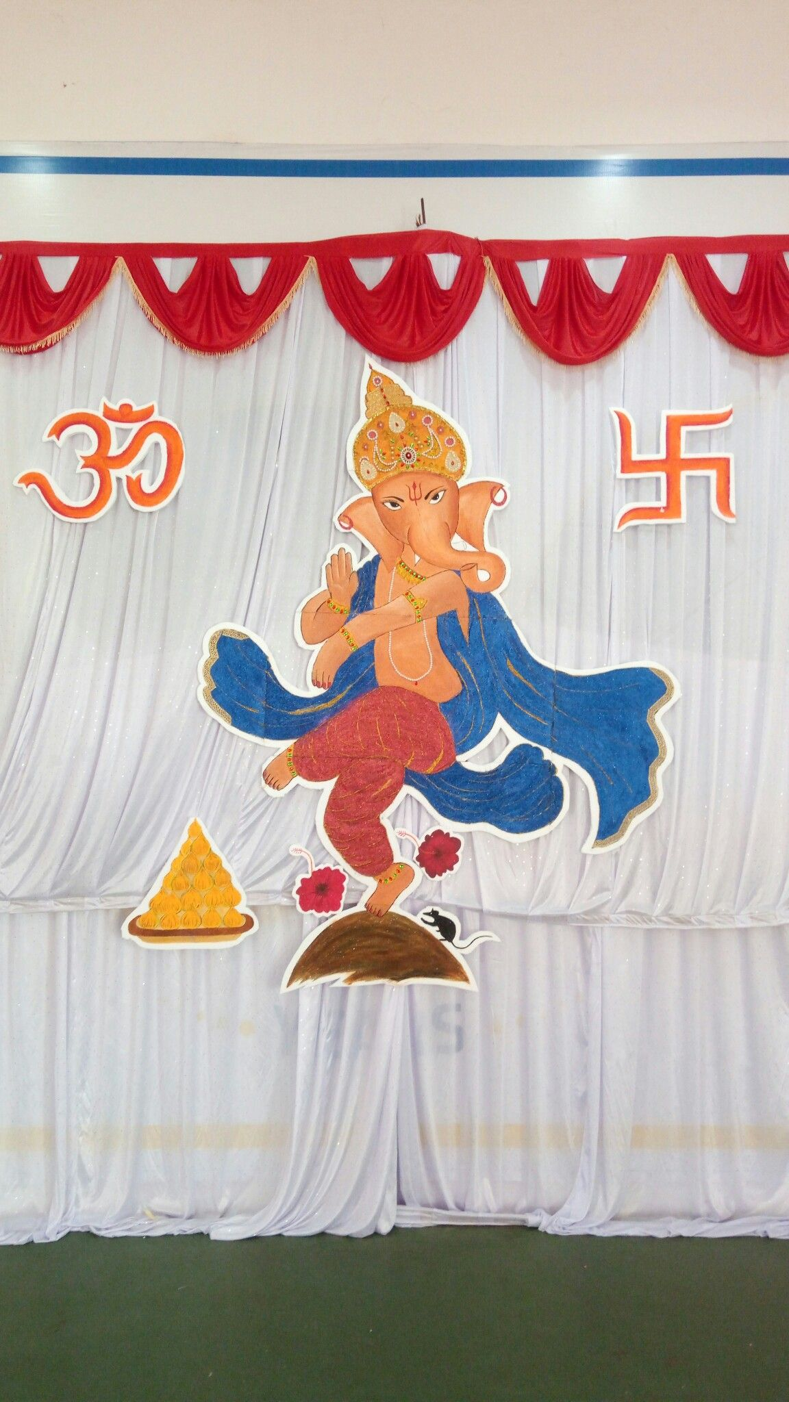 Ganesha Thermocol 3d Mural Mural Art Gallery Decor