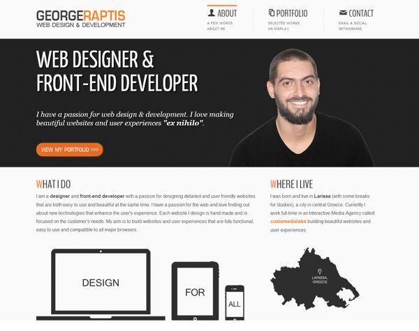 GEORGE RAPTIS   WEB DESIGNER & FRONT-END DEVELOPER by George Raptis, via Behance