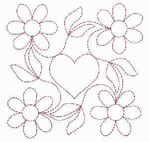continuous machine embroidery quilting motifs - Google Search Hand Embroidery Patterns ...