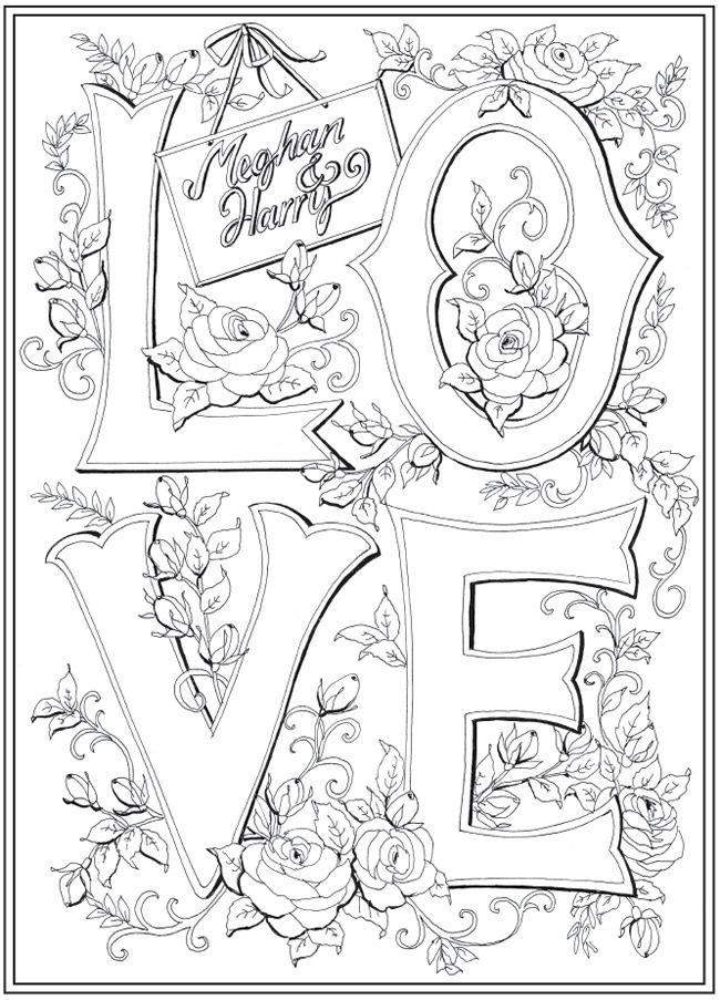 Harry And Meghan A Love Story Coloring Book Clipart Bw Coloring