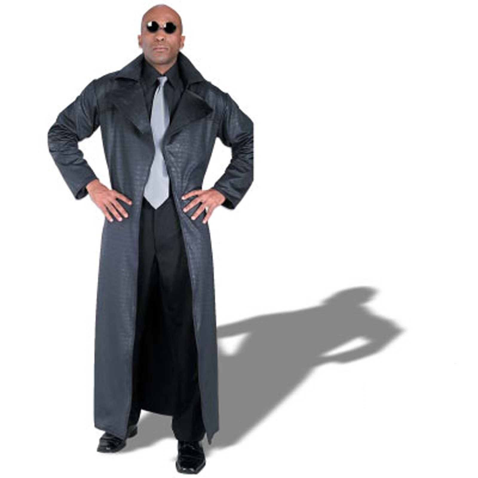 Matrix Morpheus Adult Costume - Includes: long black coat with ...