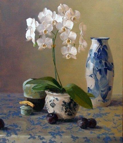 Laurie Kersey 1961 Still Life Painter Flower Painting Oil Painting Flowers Flower Art