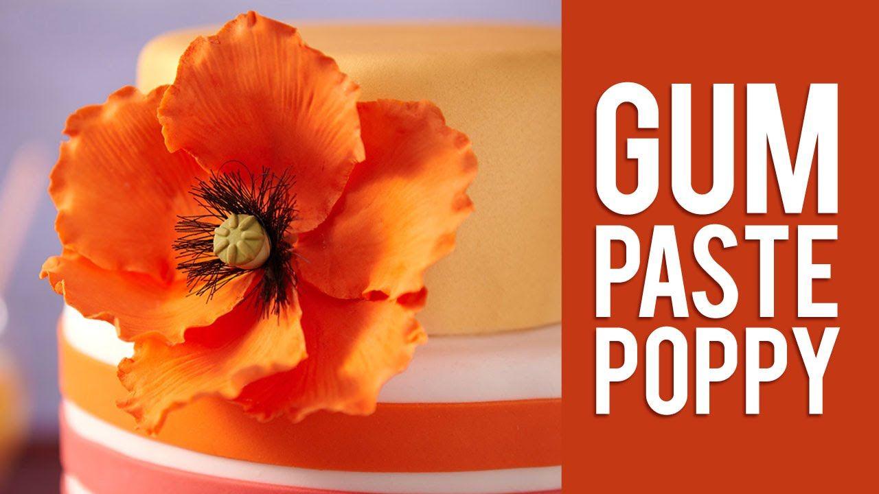 How to make gum paste poppy flowers kek pasta pinterest how to make gum paste poppy flowers mightylinksfo