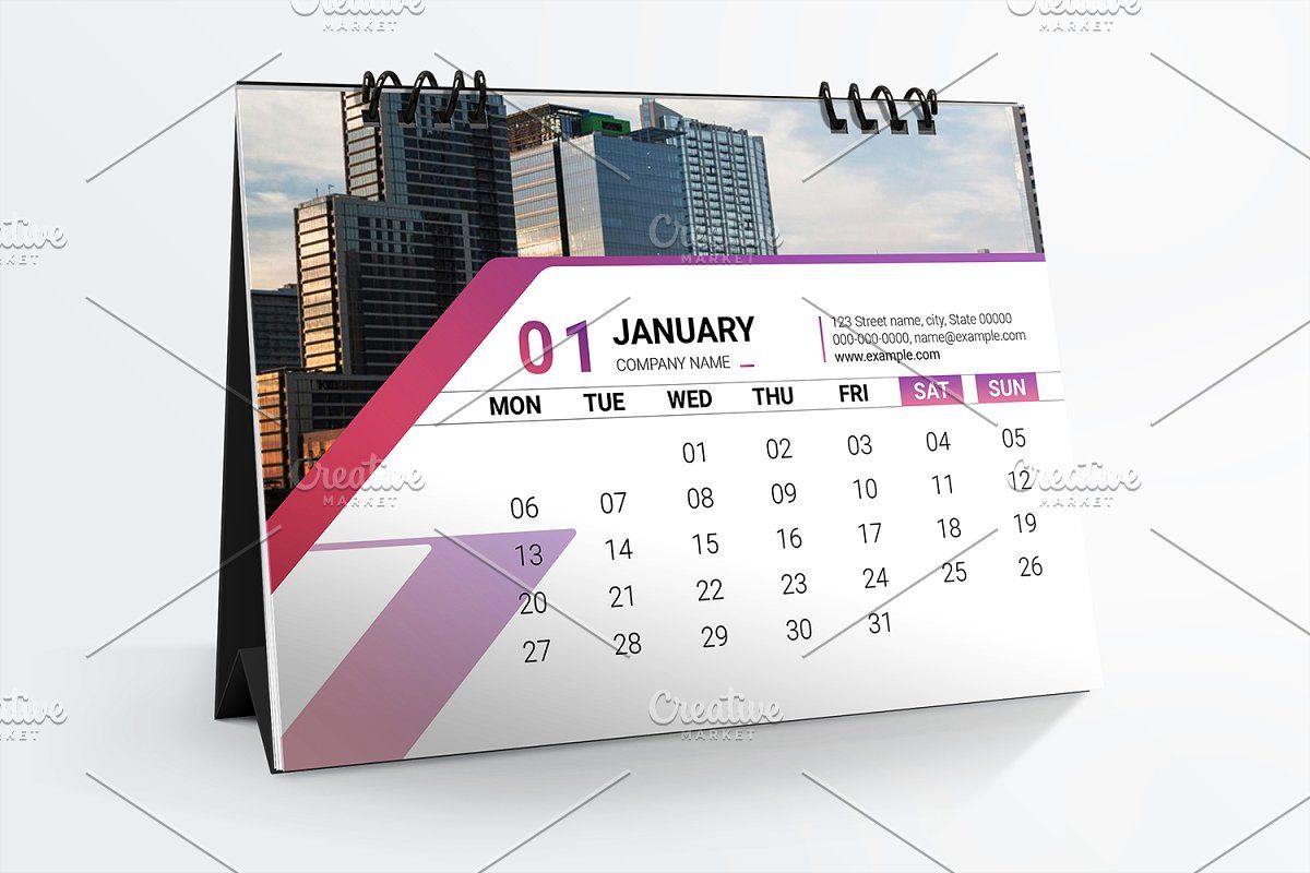 Desk Calendar 2020 V22 With Images Desk Calendar Template