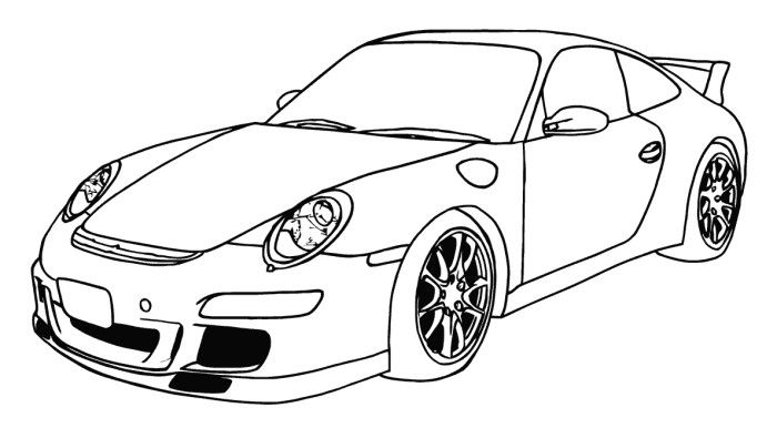 A new coat for anna coloring pages ~ Porsche 911 GT3 Coloring Page | A New Coat for Anna ...