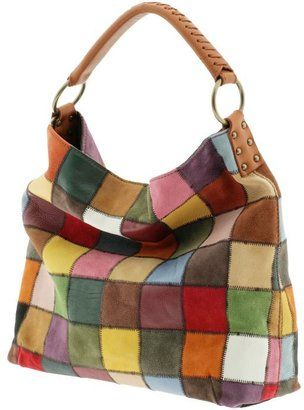 Style Lucky Brand Medium Slouchy Patchwork Bag