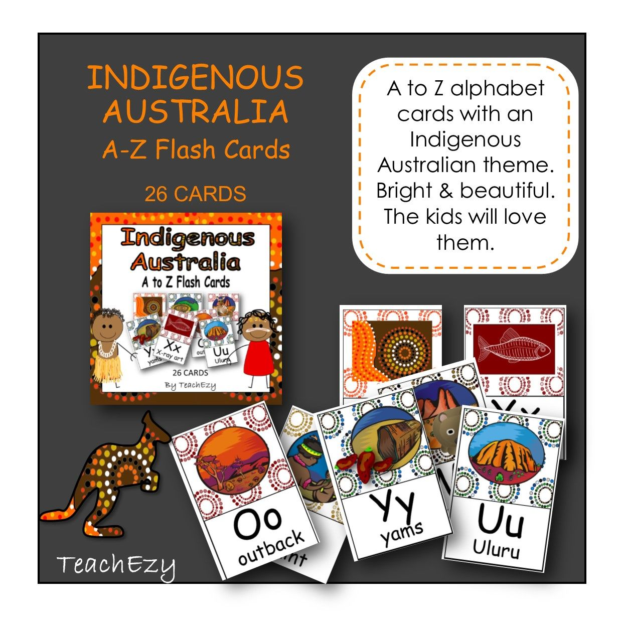 Indigenous Australia A To Z Flash Cards Teaching