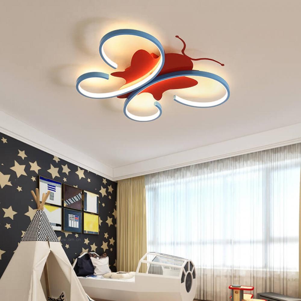 Children S Lamp Bedroom Ceiling Lamp Cute Dream Butterfly Light Childrens Lamps Butterfly Lighting Ceiling Lamps Bedroom