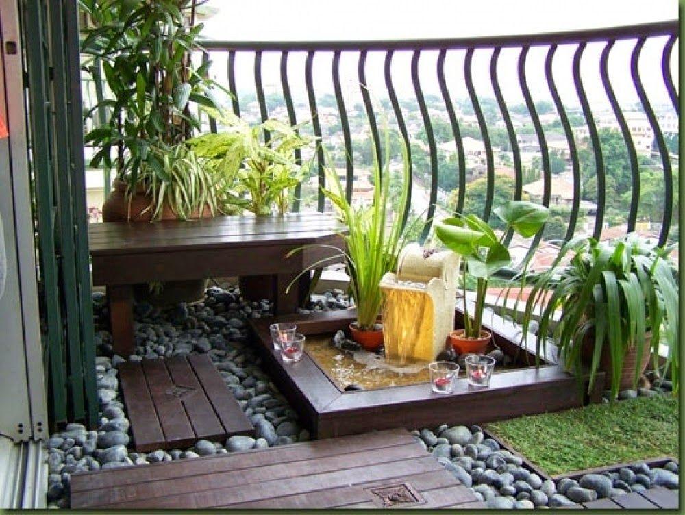 decoracion zen para balcon pequeño | balcones, terrazas, patios ...
