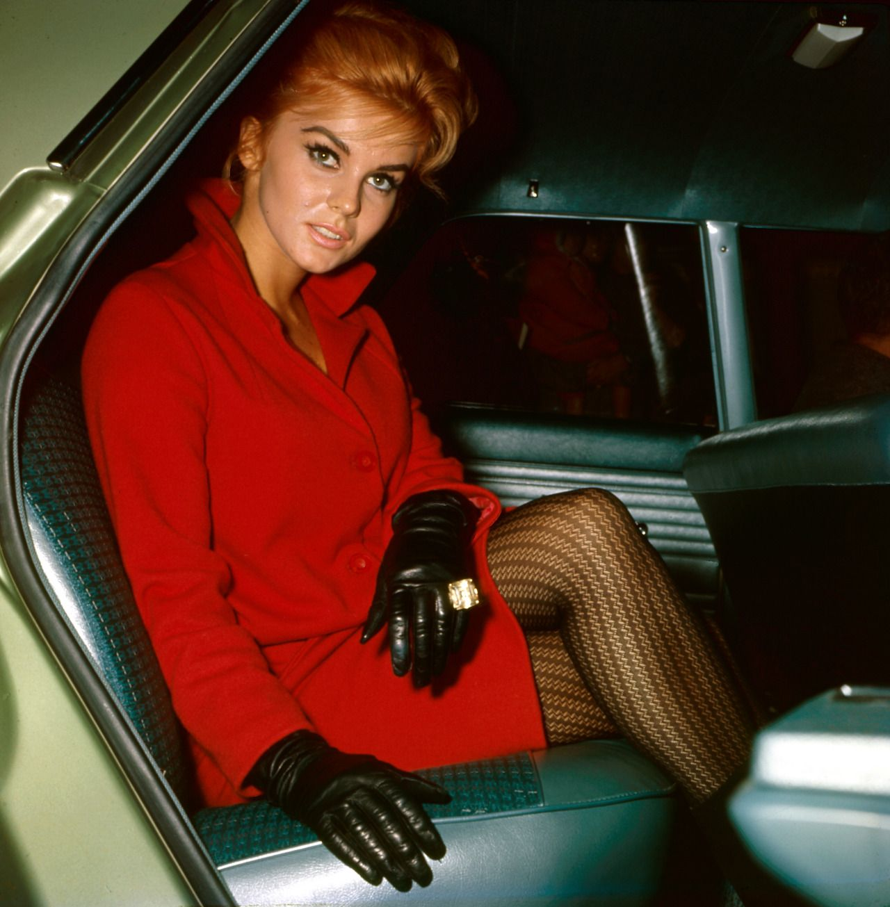 Ann margret wearing leather gloves adele pinterest ann margret