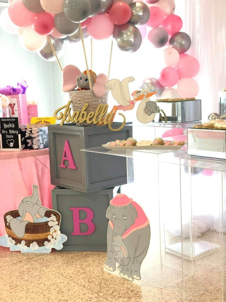 Pin By All On Baby Shower Dumbo Baby Shower Dumbo Baby Shower Theme Elephant Baby Shower Boy