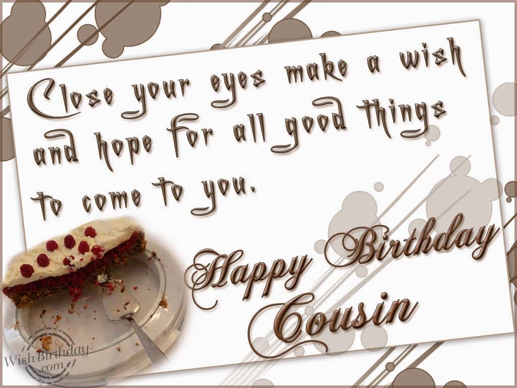 HB Cousin Birthday Wishes Pinterest – Birthday Greeting to a Cousin
