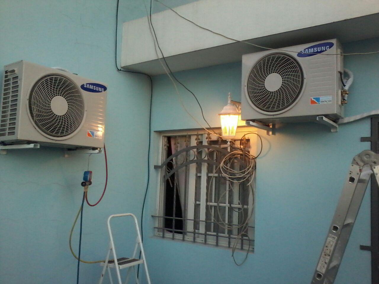 Instalando Acondicionado Aire Acondicionado Split Aire Acondicionado