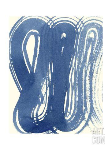 Macrame Blue V Art Print Vanna Lam Art Com Blue Wall Art Art Prints Blue Watercolor