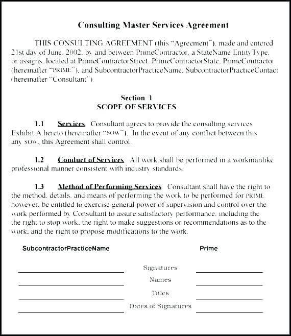 Consulting Sow Template Sow Contract Template Electrical