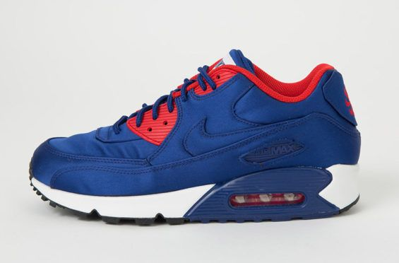 b0318a8e3fdc Royal Blue Nylon Is Placed On This Nike Air Max 90