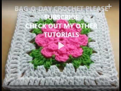 Crochet Rose Granny Square Afghan Free Patterns   Häkelschrift ...