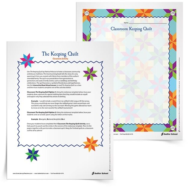 The Keeping Quilt Activities 750px Interactive Read Alouds