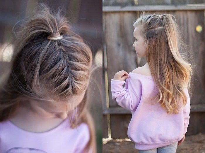 ▷ 1001 + ideas for beautiful and easy little girl hairstyles #girlhairstyles