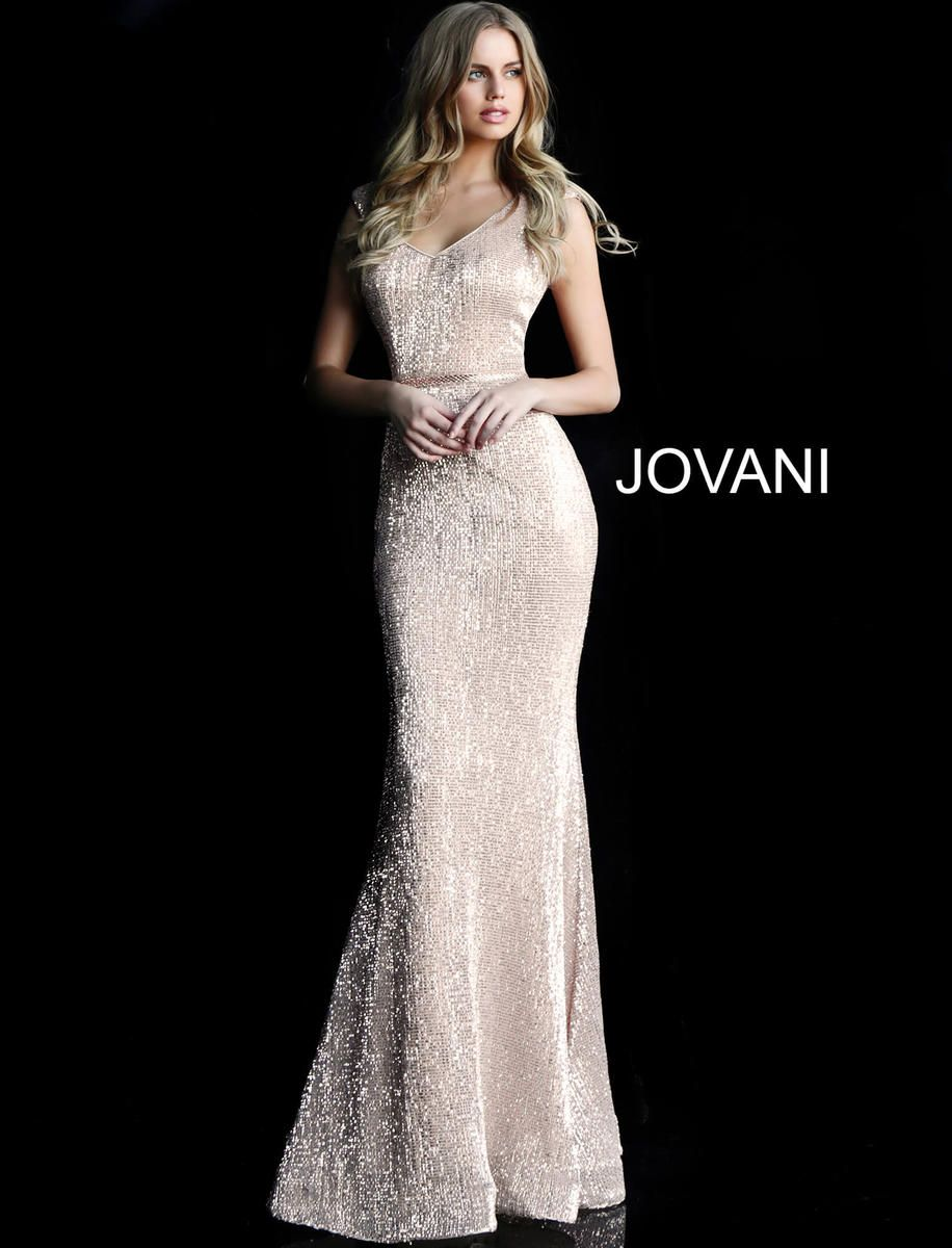 1110be4455 Check out the deal on Jovani 62499 Cap Sleeve Sequin Prom Gown at French  Novelty