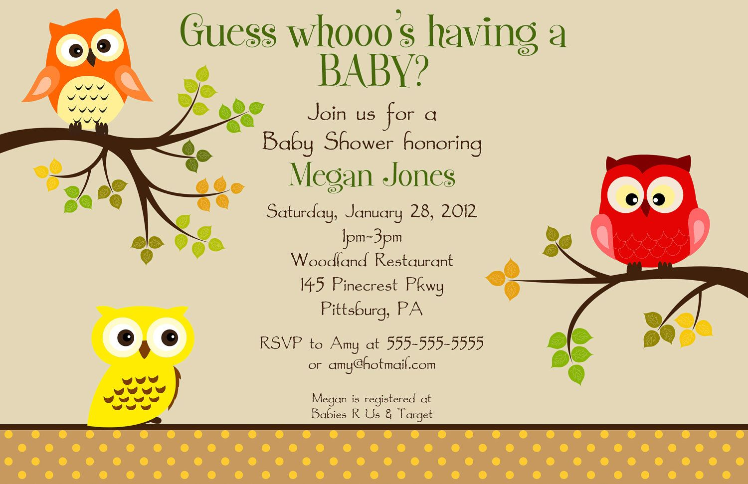 Free FREE Template Neutral Baby Shower Invitations