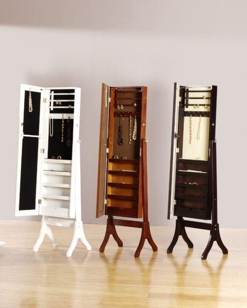 Joyero espejo vestidor mueble fabricado en madera y lacado en colores nogal blanco y venge - Mueble espejo joyero ...