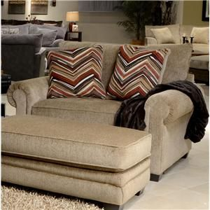 Anniston Oversized Rolled Arm Chair By Jackson Furniture At Dream