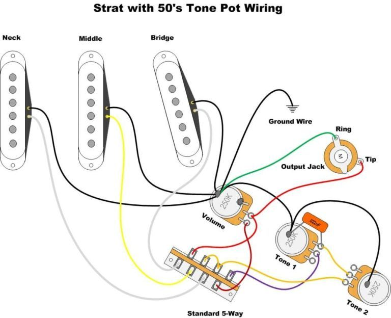 Fender Wiring Diagrams Guitar Diagram 2 Humbucker 1 With