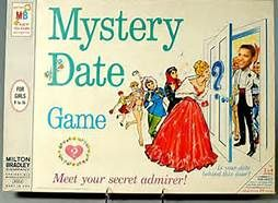 Mystery Date game.  The winner at the end got to open the door to see her date. Got rid of this in 1994. Should have kept it.