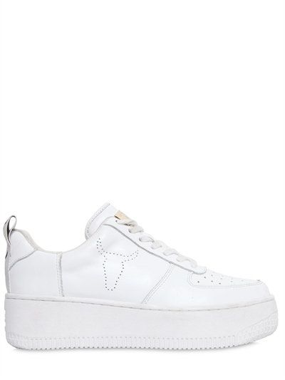 Windsor 50MM RACER LEATHER SNEAKERS rYnSHs