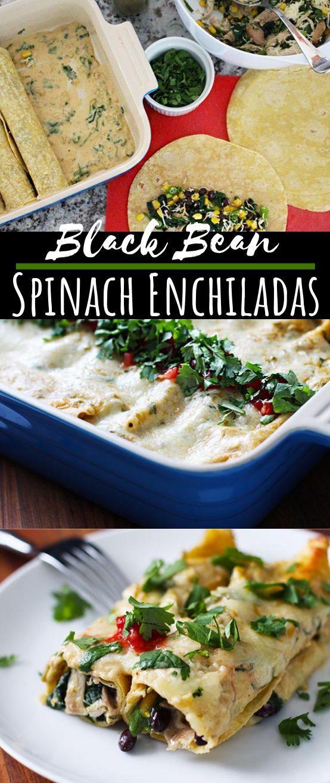 Black Bean and Spinach Enchiladas Black Bean and Spinach Enchiladas