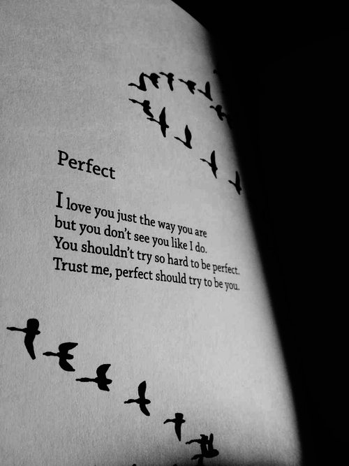 Perfect I Love You Just The Way You Are But You Dont See You